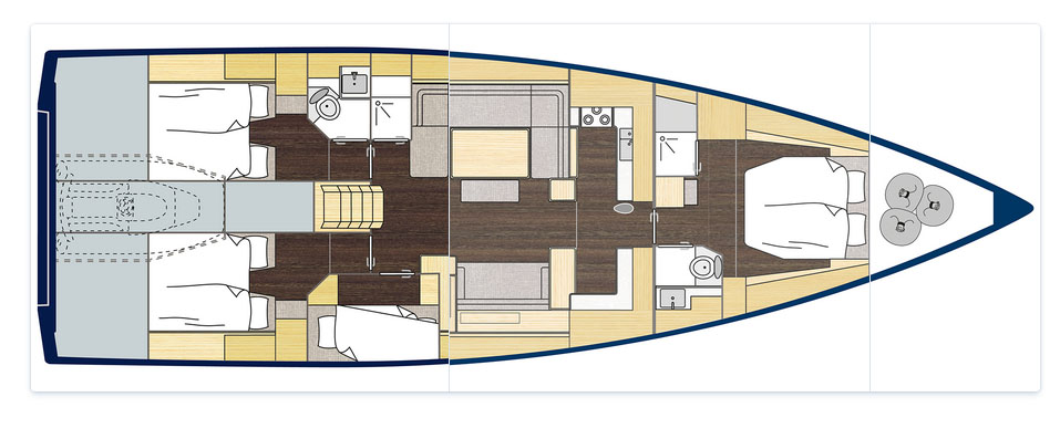 Bavaria C57 Boats for Sale - Layout
