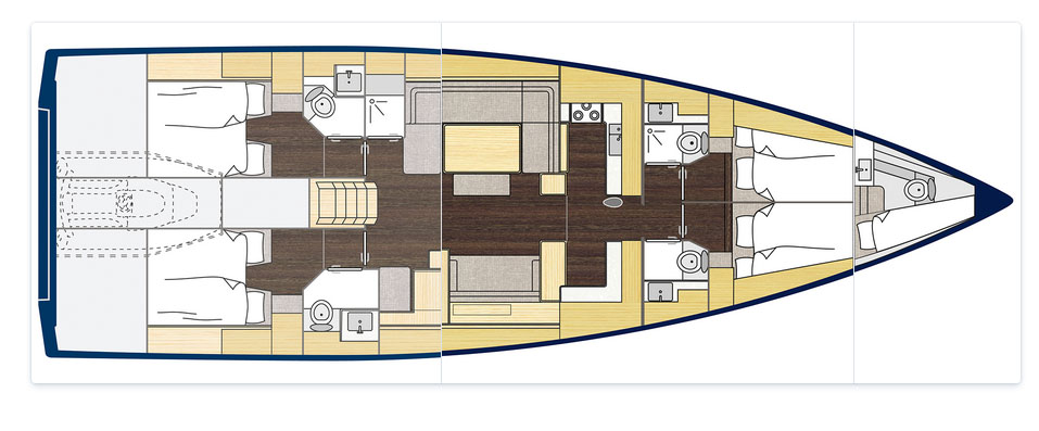 C57 Boats for Sale - Layout