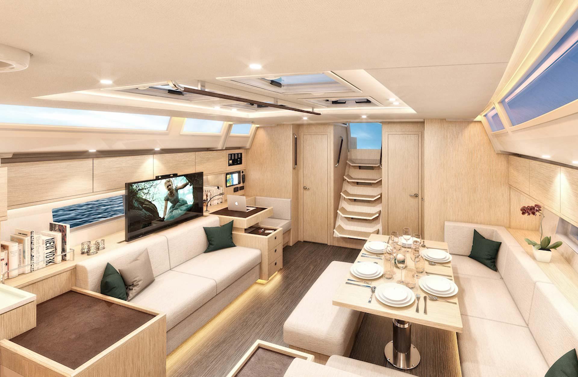 Sailing Boat Bavaria C57 - Interior