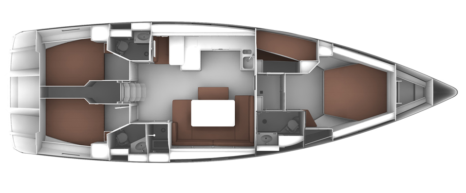 Bavaria Cruiser 51 - LAYOUT