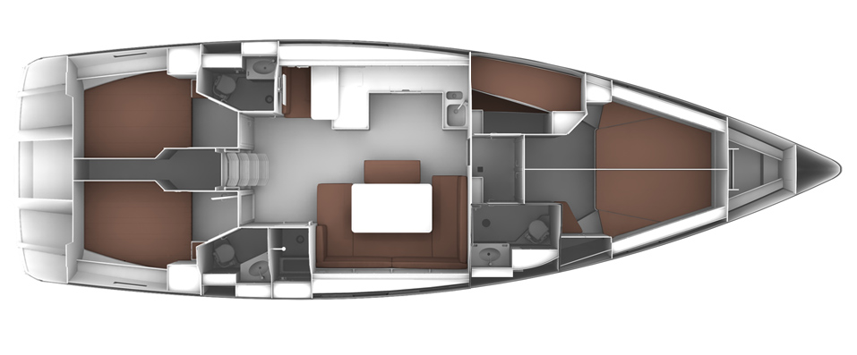 Bavaria Cruiser 51 Boats - LAYOUT