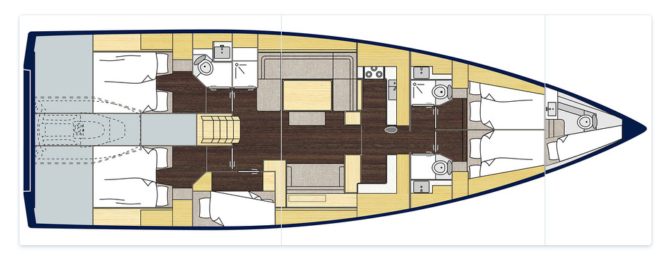 New Bavaria C57 - Layout