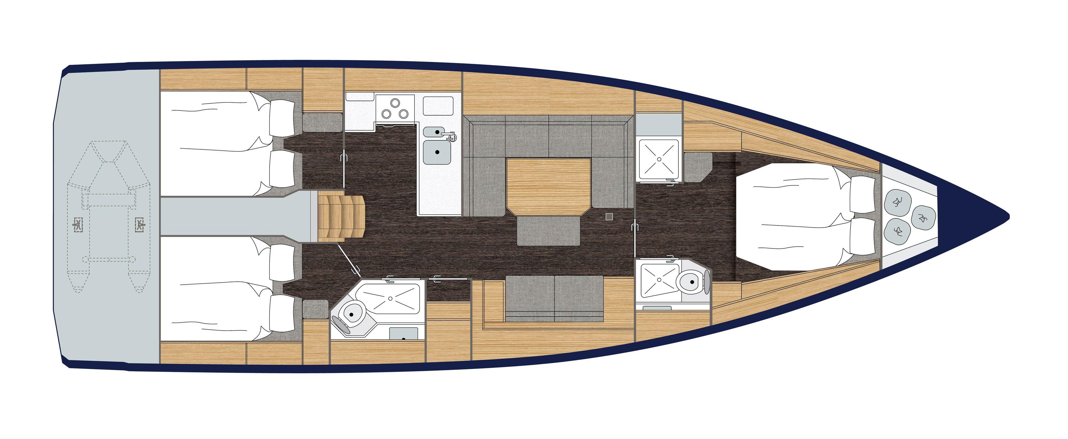 Bavaria C45 Cabins 2