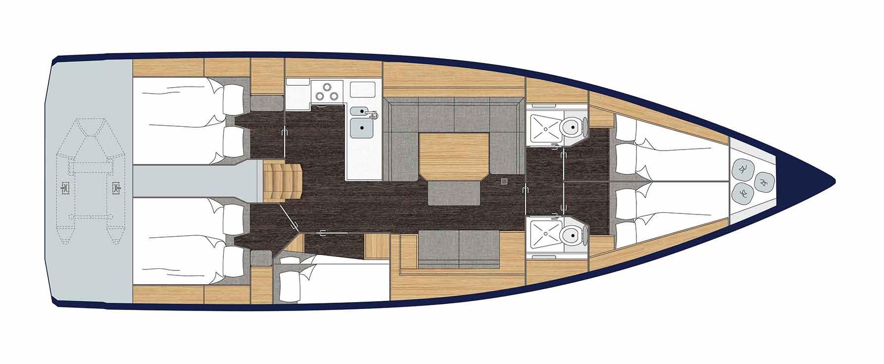 Bavaria C45 5 cabin